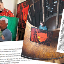Clippings, John Patten, Victorian Indigenous Art Awards, Sunbury